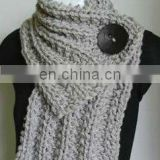 fashion thick stitches 100% acrylic ,100% wool knitted scarf neck warmer
