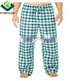 100% Cotton Flannel Pajama Lounge Pants- Blue/Green/White Big Checks