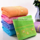 alibaba China supplier extra large terry bathroom sun flower design wash towels cotton
