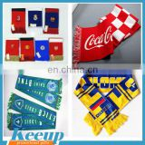Fans scarf, Knitted scarf, acrylic football club scarf for promotional