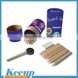 Round Paper Kraft Box colored Pencil Set