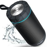 Comiso Outdoor Wireless Portable Waterproof Bluetooth Speaker 24 Hours Playtime 12W Drivers Passive Radiator