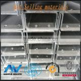Galvanized Zinc C Channel .steel frame c channel steel Z80 with hole process from shanghai China