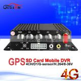 CCTV surveillance systems 4G G-Sensor real time 4-channel video monitor bus taxi car mdvr passenger counter