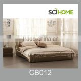 modern bedroom furniture yellow modern leather double bed