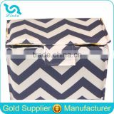 Navy Blue Chevron Cotton Canvas Pearl Foam Padded Camera Insert Protective Camera Insert Bag