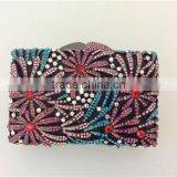 Customize design top quality China rhinestone Crystal lady purse