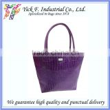 Elegant Dark Purple PVC leather Women Ladies Handbag