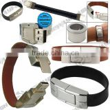Metal bracelet usb flash stick, newest design leather usb memory                                                                         Quality Choice