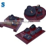 High Quality Luxury Vision Rosewood Jewelry Display Set Jewelry Bust Displays Sets Stand Earring Stand SHOW494