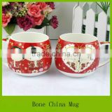 bone china custom-made tea cup with printing / wedding mug wholesale / ceramic coffee mug for souvenier