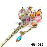 Alloy fashion classic bronzy flower hairpins, wedding jewelry,crystal hairpins
