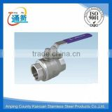 made in china casting female stainless steel 2pc heavy type ball valve                                                                                                         Supplier's Choice