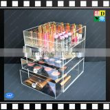 Hot sale clear Acrylic Makeup/cosmetic Organizer Display Box with 4 Tier/layer Drawers From China