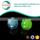 Multi-color acrylic handle knob with bubble and metal nut