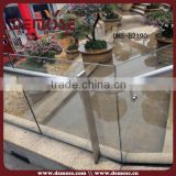 tempered glass decorative hand railing for balcony and galvanized steel pipe guangdong