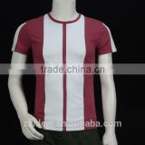 slim fit O-neck contrast panel blank design man polo t-shirt, OEM factory in zhongshan guangdong