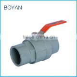 Made in China Gray PVC pipe fitting Two pieces ball valve