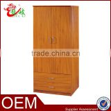 fashion modern design almirah low price wardrobe 2 doors with drawer MDF armoire closet F203