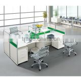 China Modern Design Wooden Modular Office Furniture/office Workstation Partition/office Workstation For 4 Person