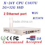 X-26Y MINI PC with 2 RJ-45 multi user network computing terminal ,C1037u small pc ,X86 Desktop Computer .!!