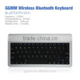 GGMM Super Slim Wireless Bluetooth Keyboard Aluminum Portable Keyboard with Rechargeable Battery Universal Compatible - Silver