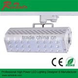 CE RoHS TUV Approved Cloth Shop Lighting Black Aluminium Housing Led 50w Track Light