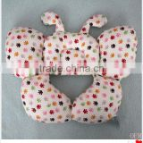 High quality safety light red butterfly shaping plush baby pillow