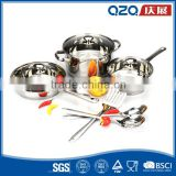 7PCS wholesale and easy to clean kitchen stainless steel cookware set                                                                                         Most Popular