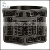 wholesale black royalty mens cz bling bling ring
