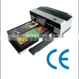 Hot sale! A3 Digital high speed high resolution ceramic flatbed printer ( Eco-solvent ink)