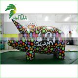 Customized Colorful Giant Inflatable Helium Pig Balloons / Inflatable Flying Pig With Logo Printing For Sale