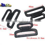 "From 1-1/2"" To 1"" Plastic Looploc Reducing Loops Ruducers Transition Hardware Buckles Backpack Straps #FLC086-B"