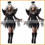 Halloween cosplay costume vampire Black Ghost bride queen witch outfit Black Angel outfit role play