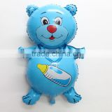 Wholesale 90*61cm bule bottle bear foil mylar balloons for baby shower