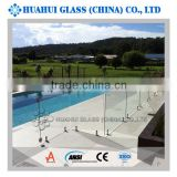 8mm 10mm 12mm swimming pool fencing toughened safety glass with ANSIZ97.1 AS/NZS 2208 certificated