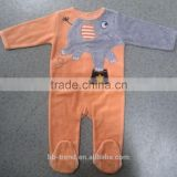 Baby boy velour romper/footie