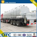 42 CBM 3 Axles Fuel Oil Asphalt Tank Truck Trailer , Heated Bitumen Tank Trailer Semi Trailer