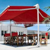 Remote Control Beach awning/coffee leisure awning with strong awning support/Bat wing awning