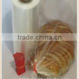 wholesale fpb-29 Plastic bread and Grocery Clear Bag on Roll 12x20 1 Roll/cs appx. 350 bags- with Twist Ties