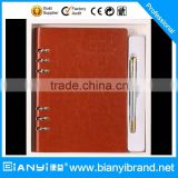 2016 Custom pu leather planner notebook diary set for promotion