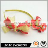 Wholesale girls wear jewelry set bowknot design shiny silk ribbon cute hair accessories for kids                                                                                                         Supplier's Choice