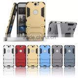 Mobile phone back cover case for htc one a9 m9 e9 Stand For HTC A9 Kickstand Phone case
