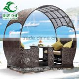 Hot selling factory price garden rattan swing set for adults