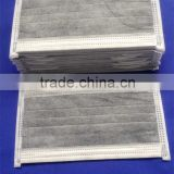 Non woven active carbon face mask/ disposable active carbon face mask/ dustproof carbon face mask