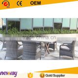 Factory best price top sale rattan furniture outdoor dining set for project
