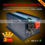 Low frequency heavy duty 12v/24v/48v to 220v 2000w 4000w pure sine wave inverter with charger