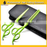 "5.5"" Beauty Hair Cutting Scissors Set,barber straight cutting scissor & thinning shears set"