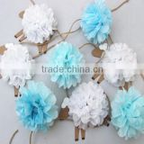 tissue paper garland flower for Indian weddings