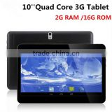 10inch Quad Core 3G WCDMA Phone call Tablets Android 4.4 2G RAM 16G ROM Bluetooth GPS Dual Sim Card slo tablet PC